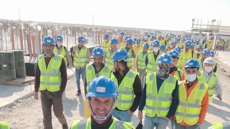 Sakaryalı işçiler Katar'da eylemde