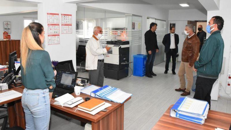 Meclis üyeleri belediye şantiyesini gezdi
