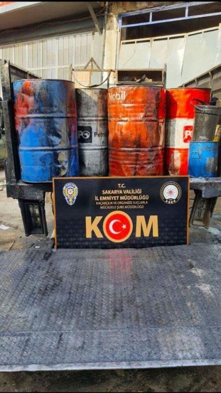 KOM, 9 bin 530 litre kaçak akaryakıt ele geçirdi