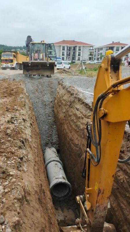 SASKİ'den 16 kilometre kanalizasyon hattı