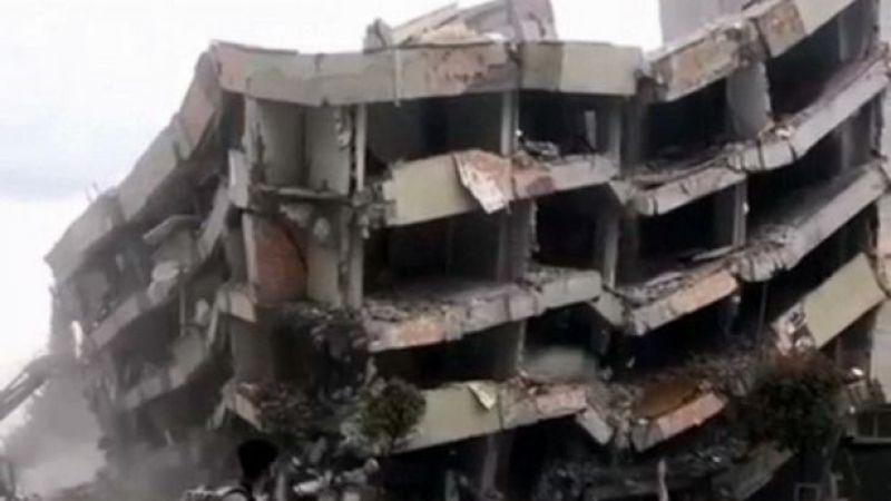 O bina bugün yıkıldı