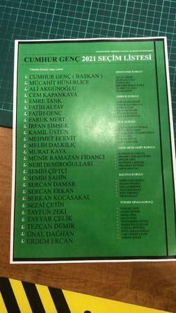 İşte Cumhur Genç'in listesi