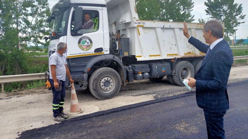Serdivan'da asfalt sezonu açıldı