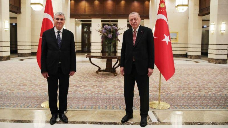 Cumhurbaşkanı Erdoğan, Yüce'yle görüştü