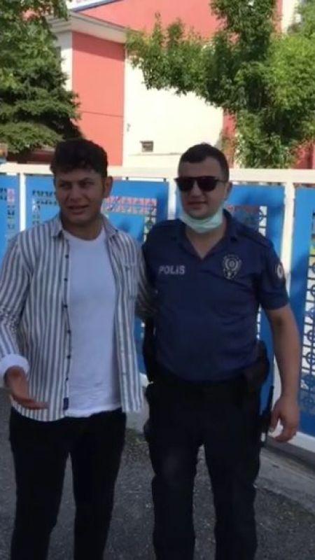 Sınava polisler yetiştirdi