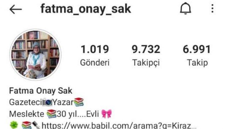 Fatma Sak'ın hesabı hacklendi