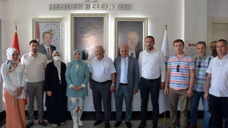 Atabek'ten Hendek Belediyesi'ne ziyaret