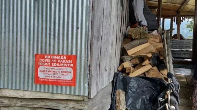 Yaylada bir ev karantinaya alındı