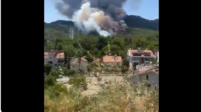 Mehmet Şehit yangın yerinde
