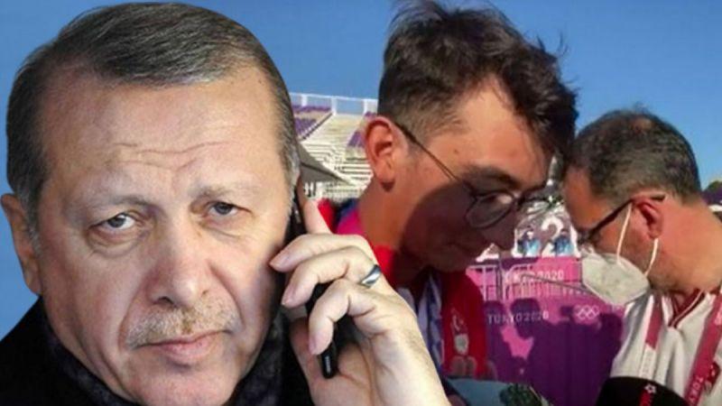 Cumhurbaşkanı Erdoğan Mete Gazoz'u tebrik etti