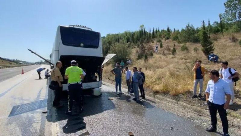 Şoförün dikkati 33 yolcuyu kurtardı
