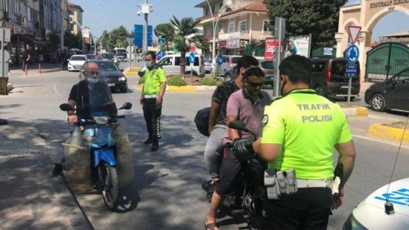 Akyazı'da motosiklet denetimi