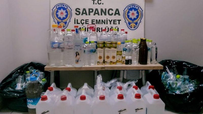 Sapanca'da sahte içki operasyonu