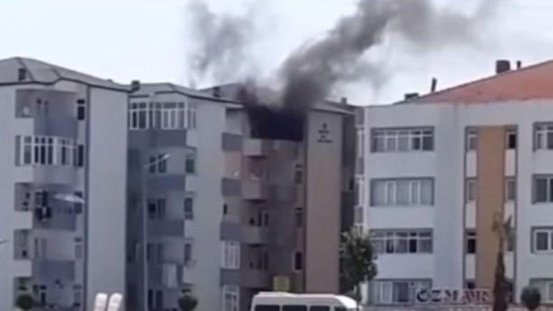 5'inci katta yangın paniği