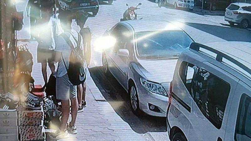 Hayrete düşüren terlik hırsızlığı kamerada