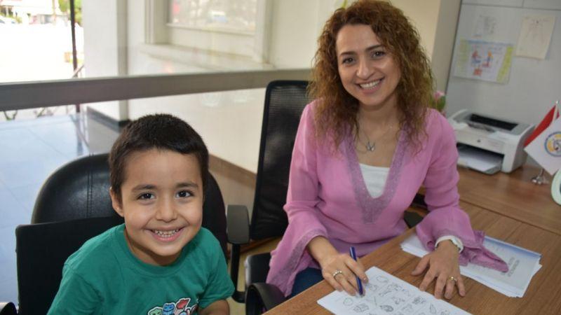 Belediyeden çocuklara okula hazırlık testi