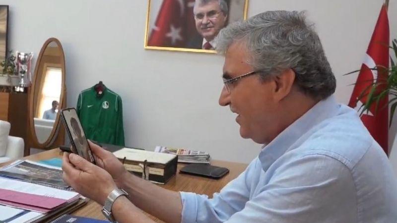 Başkan Yüce'den Mete Gazoz'a tebrik telefonu