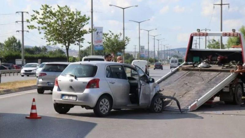 Duble yolda kaza: 3 kişi yaralandı