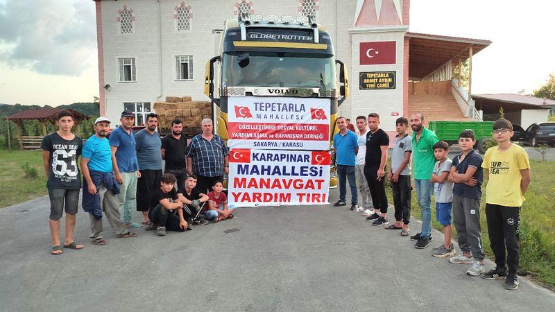 Karasu'dan Manavgat'a 3 tır yardım