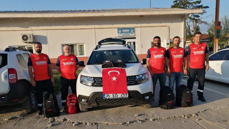 Büyükşehir'den sel bölgesine ekip