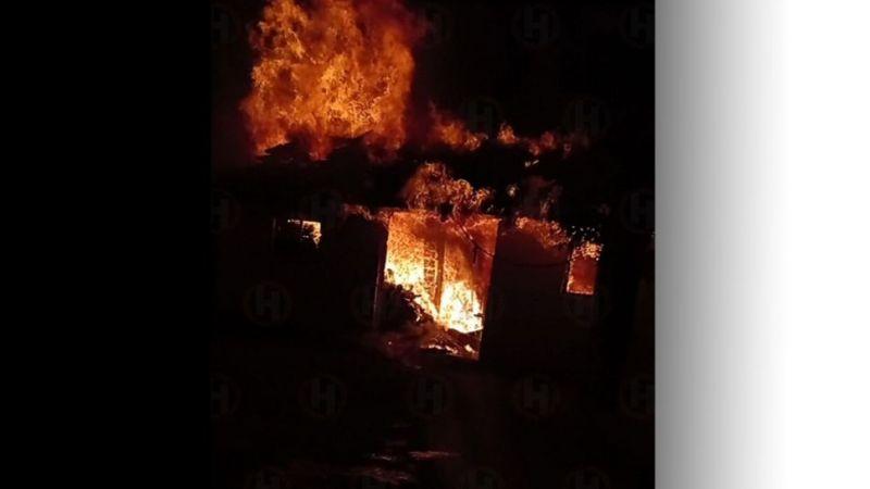 Geyve Camikebir Mahallesinde yangın