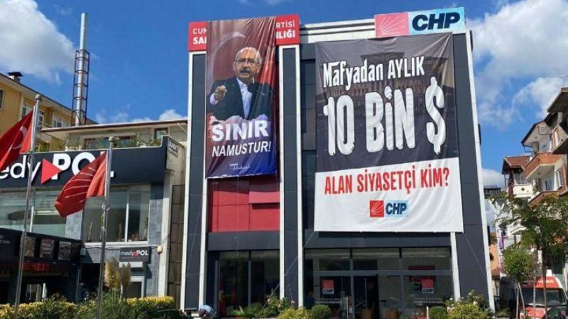 CHP''den 'Sınır Namustur' pankartı