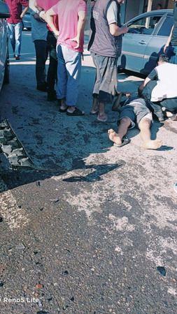 Patpatla otomobil çarpıştı: 1 yaralı