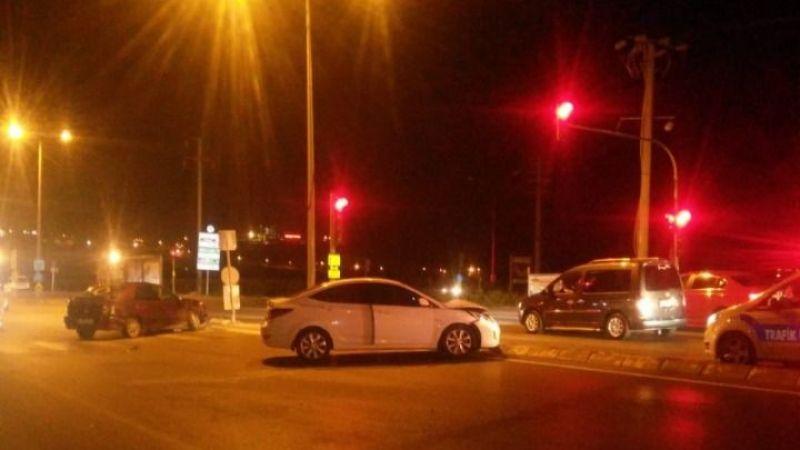 Yenikent yolunda trafik kazası
