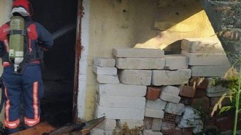 Madde bağımlısı genç evi ateşe verdi