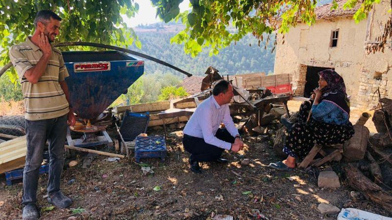Başkan Kaya'dan evi yanan aileye ziyaret