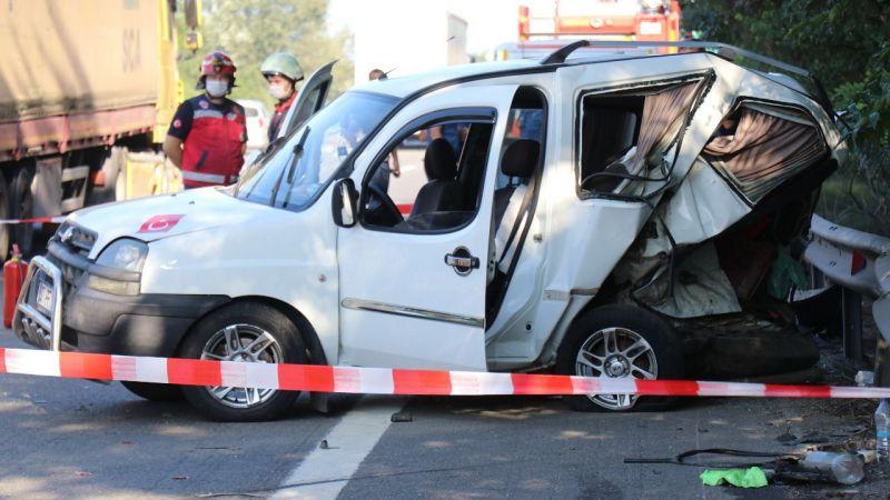 TEM'de kaza: 1 ölü 3 yaralı