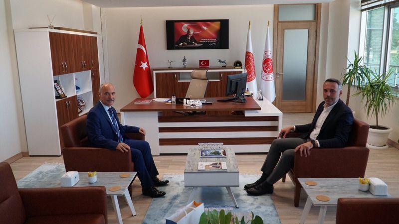 Başkan Tever'den Bölge Adliye'ye ziyaret