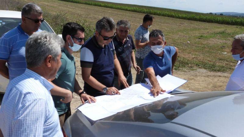 DSİ Heyeti gölet inşaatlarını gezdi