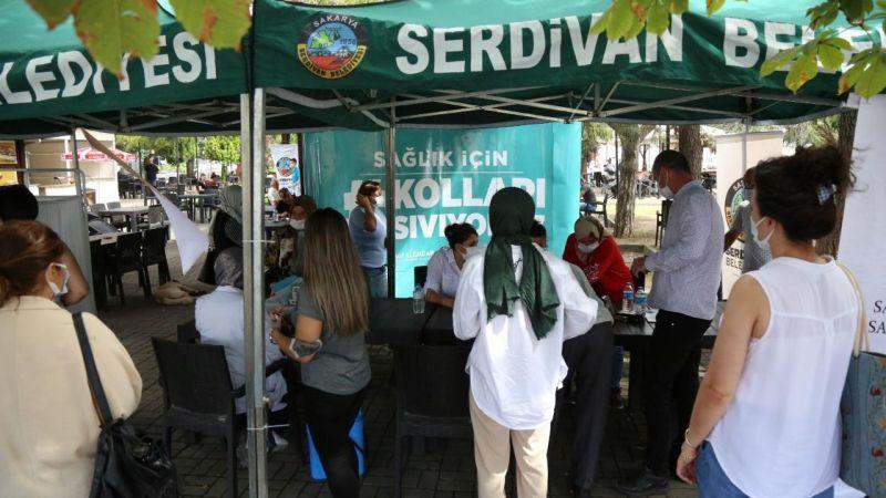 Serdivan'dan aşı kampanyasına büyük ilgi