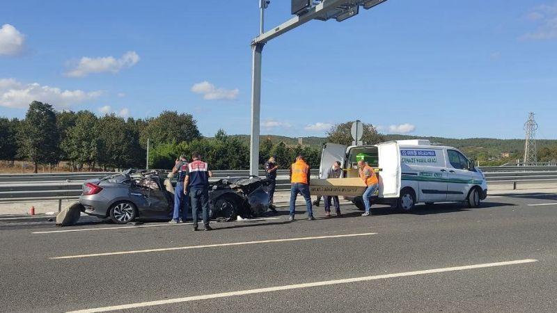 Kuzey Marmara Otoyolunda feci kaza:1 ölü 4 yaralı