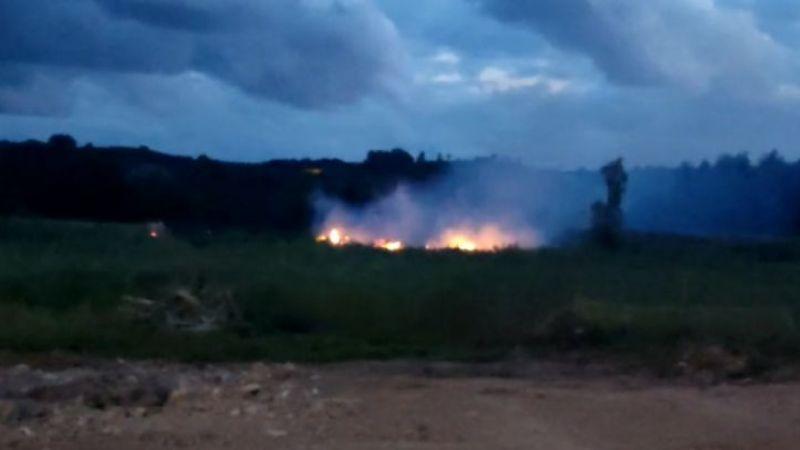 Karasu'da mısır tarlası tamamen yandı