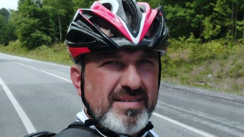 Bisikletliler Derneği Başkanı İlhan Şengel'e araba çarpıp, kaçtı