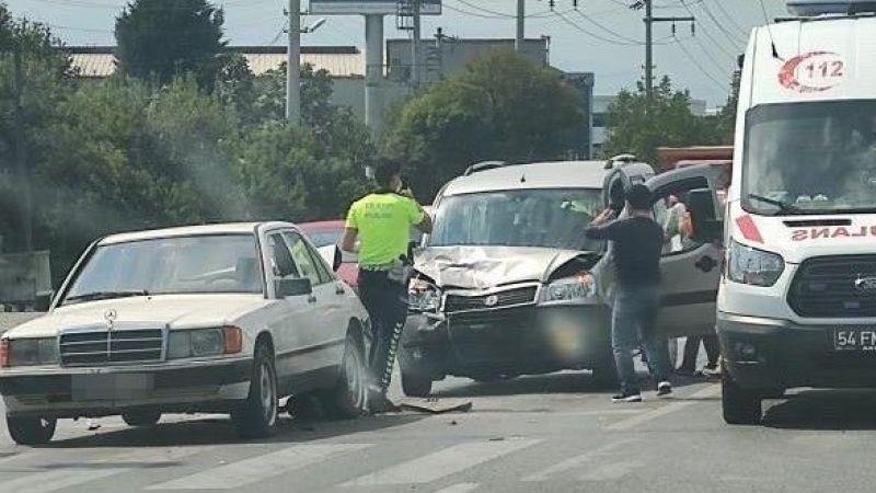 Bekirpaşa kavşağında kaza