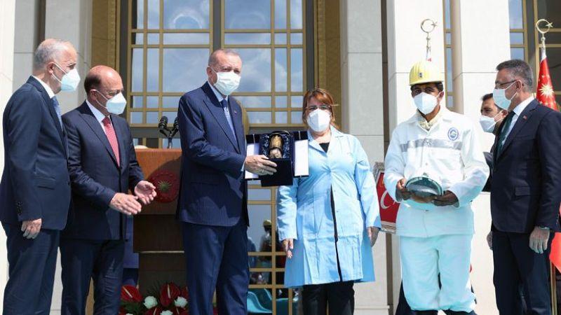 Atalay ve işçilerden Cumhurbaşkanı Erdoğan'a teşekkür