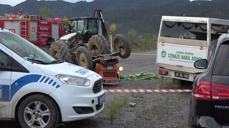 Traktör yarış pistinde takla attı: 1 ölü, 1 yaralı