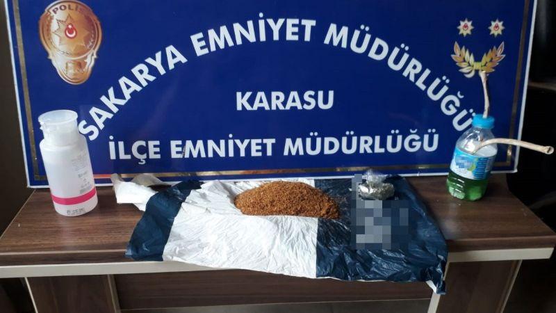 Karasu'da uyuşturucu baskını