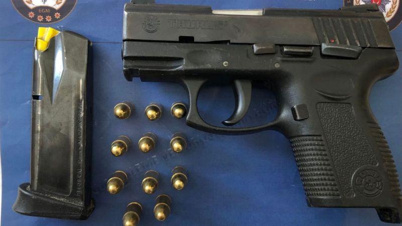 Üzerinden Taurus marka silah çıktı