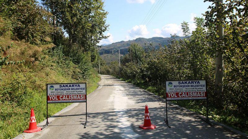 Kocaali'ye 46 kilometre beton yol