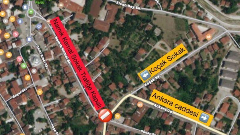 Geyve'de o sokak trafiğe kapatıldı