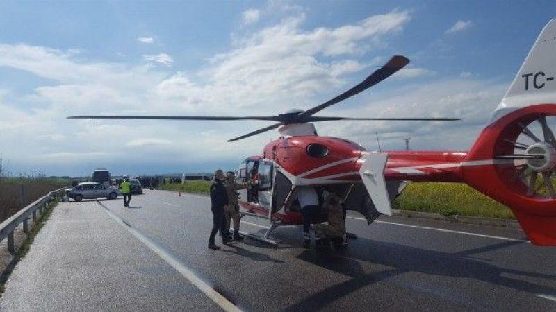 Helikopter Yola İndi
