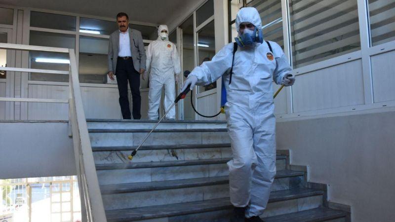 Edremit'te Korona'ya karşı dezenfekte başladı