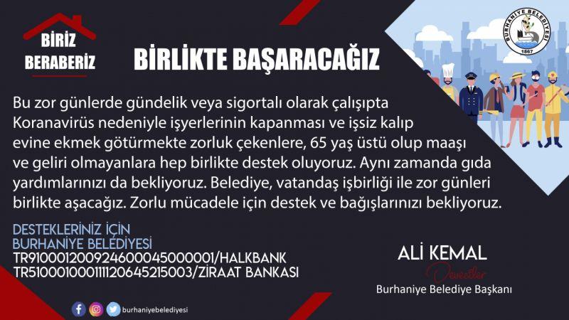 Burhaniye'de, belediye vatandaşel ele bağış kampanyası