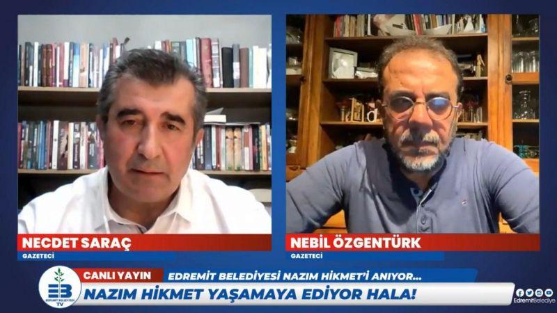 Edremit Belediyesi Nazım'ı canlı yayında andı