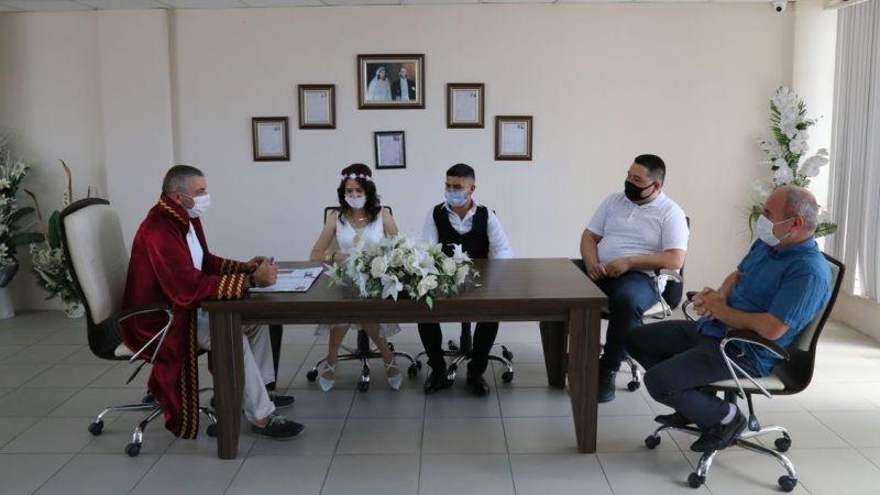 Edremit Belediyesi'nde nikah merasimi önlemleri