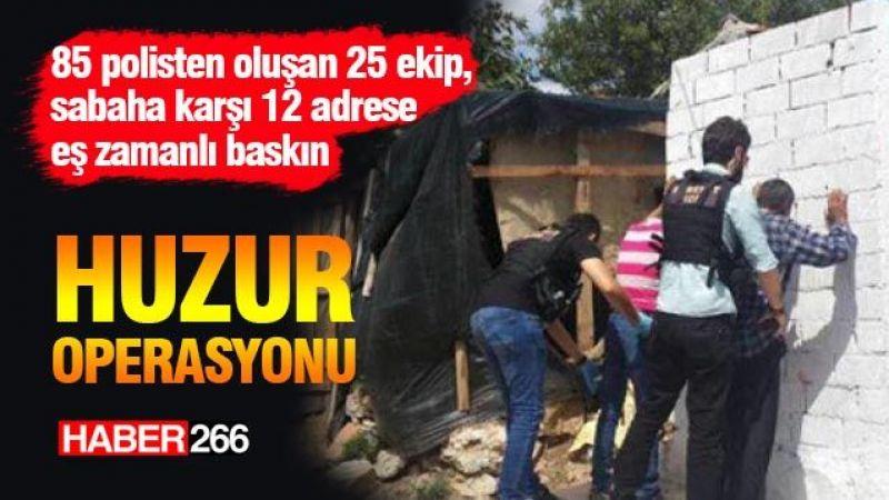 """""""Huzur operasyonu""""nda 4 şüpheli gözaltına alındı"""